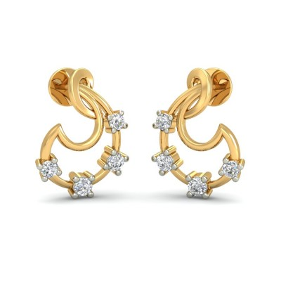 AMLA DIAMOND STUDS EARRINGS in 18K Gold