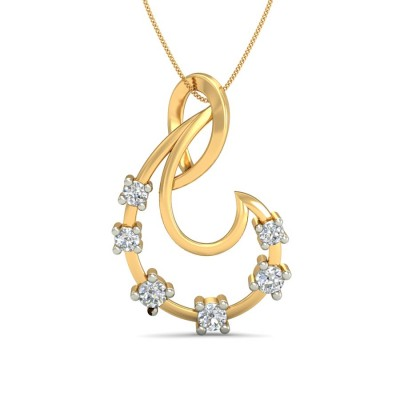 LILIA DIAMOND FASHION PENDANT in 18K Gold