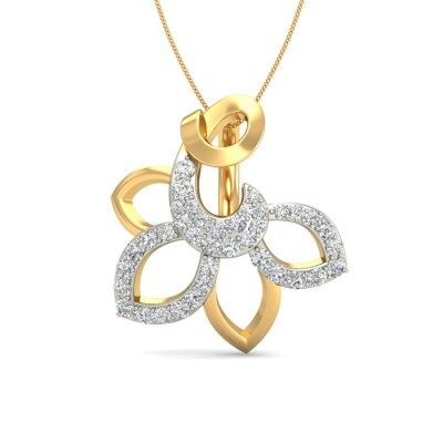 AMOLIKA DIAMOND FLORAL PENDANT in 18K Gold