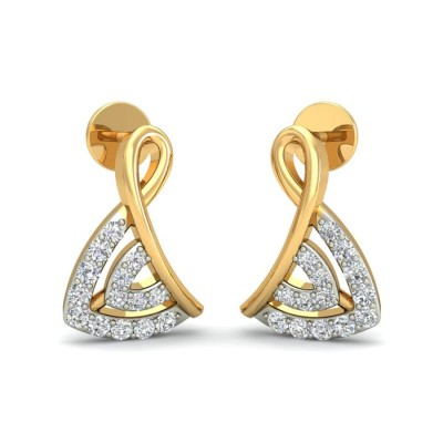 KAVYA DIAMOND STUDS EARRINGS in 18K Gold