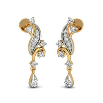 VIJAYA DIAMOND DROPS EARRINGS in 18K Gold