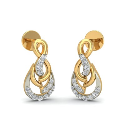 CALI DIAMOND STUDS EARRINGS in 18K Gold