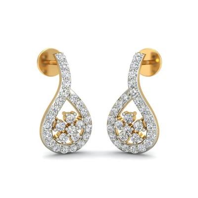 RAYA DIAMOND STUDS EARRINGS in 18K Gold