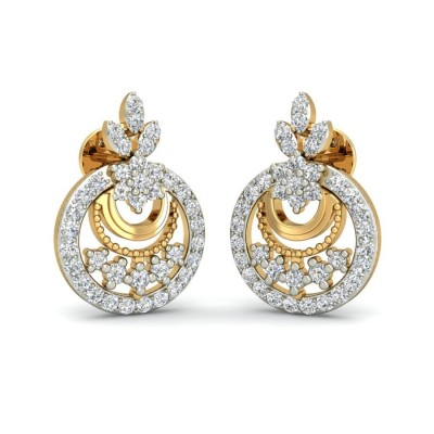 ANVI DIAMOND DROPS EARRINGS in 18K Gold