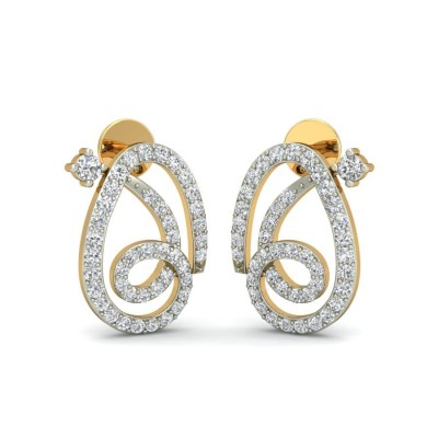 TULASI DIAMOND STUDS EARRINGS in 18K Gold