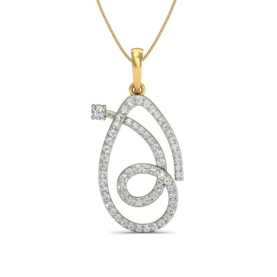 NOELANI DIAMOND FASHION PENDANT in 18K Gold