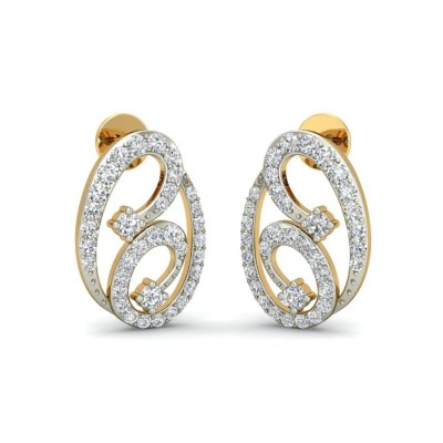 LAINEY DIAMOND STUDS EARRINGS in 18K Gold