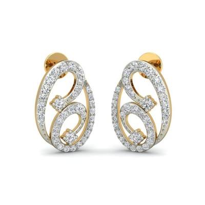 LAINEY DIAMOND STUDS EARRINGS in 18K Gold
