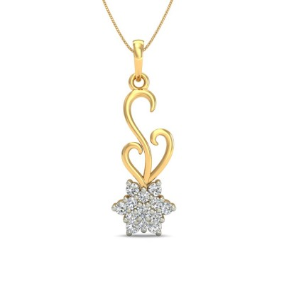 TUSTI DIAMOND FASHION PENDANT in 18K Gold
