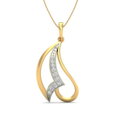SANJANA DIAMOND FASHION PENDANT in 18K Gold