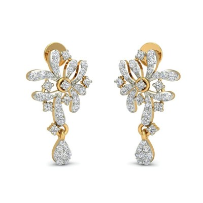 ZAIRA DIAMOND DROPS EARRINGS in 18K Gold