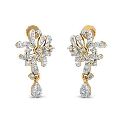 ZAIRA DIAMOND DROPS EARRINGS in 18K Gold