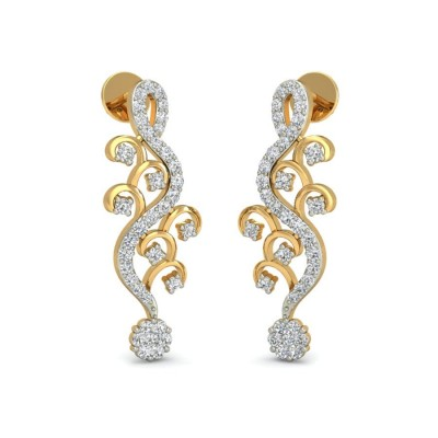 LESLIE DIAMOND STUDS EARRINGS in 18K Gold