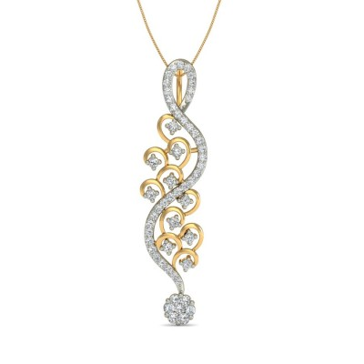 LINDSEY DIAMOND FASHION PENDANT in 18K Gold
