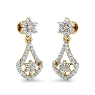 BINDU DIAMOND DROPS EARRINGS in 18K Gold