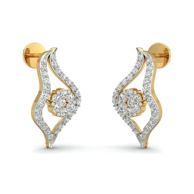 SHASHI DIAMOND STUDS EARRINGS in 18K Gold
