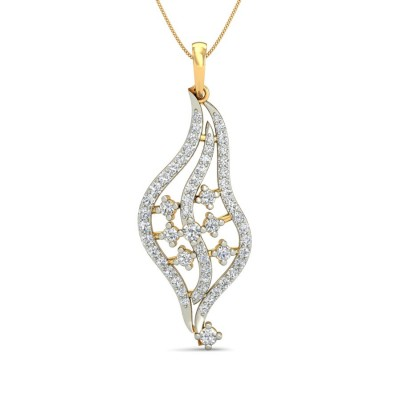 MARY DIAMOND FASHION PENDANT in 18K Gold