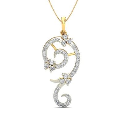 ZIVA DIAMOND FASHION PENDANT in 18K Gold