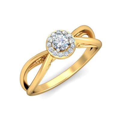RAMOLA DIAMOND CASUAL RING in 18K Gold