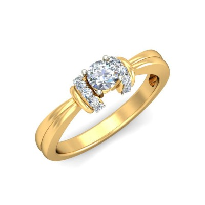 JOLIE DIAMOND CASUAL RING in 18K Gold