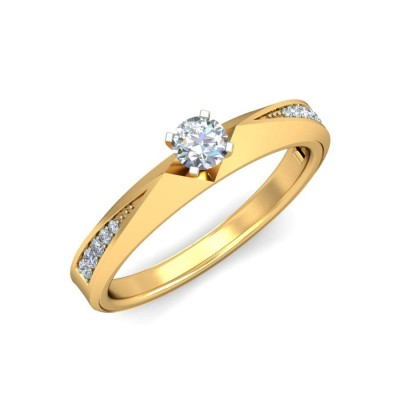 RAINA DIAMOND CASUAL RING in 18K Gold