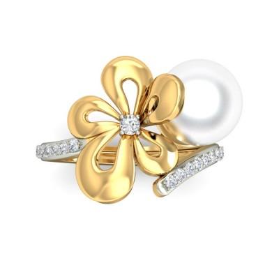 RITU DIAMOND COCKTAIL RING in Pearl & 18K Gold