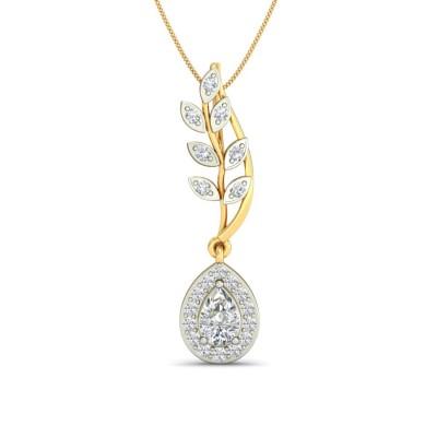 AOIFE DIAMOND FLORAL PENDANT in Topaz & 18K Gold