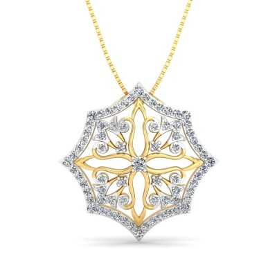 BHARAVI DIAMOND FASHION PENDANT in 18K Gold