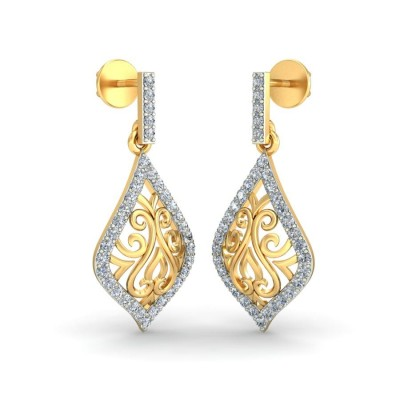 DAFNE DIAMOND DROPS EARRINGS in 18K Gold