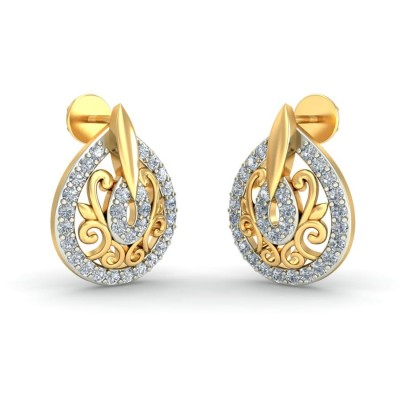 MIYAH DIAMOND STUDS EARRINGS in 18K Gold
