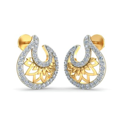 SHULINI DIAMOND STUDS EARRINGS in 18K Gold
