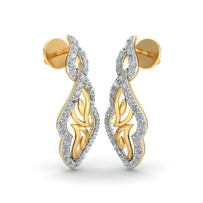 RANYA DIAMOND DROPS EARRINGS in 18K Gold