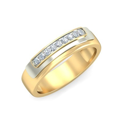 ARCHITA DIAMOND BANDS RING in 18K Gold