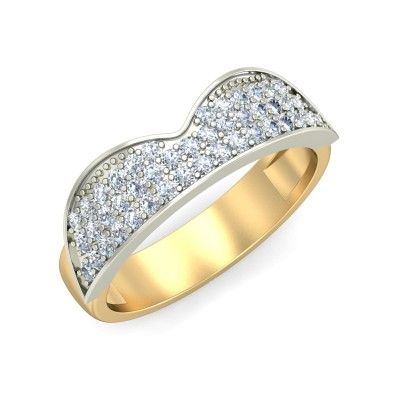 AMINA DIAMOND BANDS RING in 18K Gold