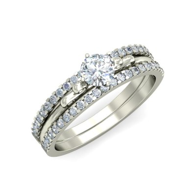 SAYLOR DIAMOND BANDS RING in 18K Gold