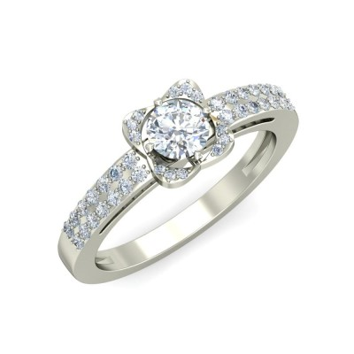 MANYA DIAMOND BANDS RING in 18K Gold