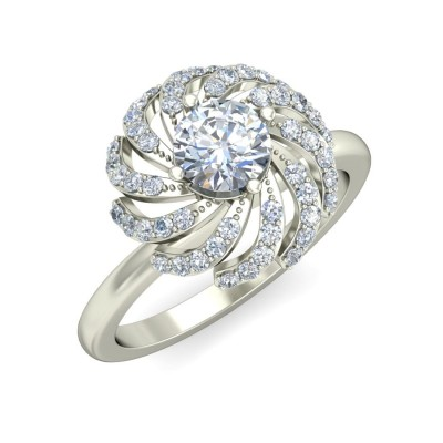 ARNI DIAMOND COCKTAIL RING in 18K Gold