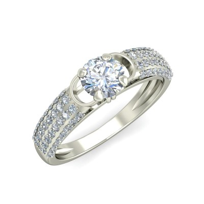 PUJYA DIAMOND CASUAL RING in 18K Gold