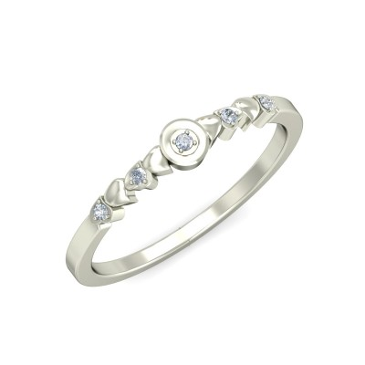 MELANI DIAMOND BANDS RING in 18K Gold