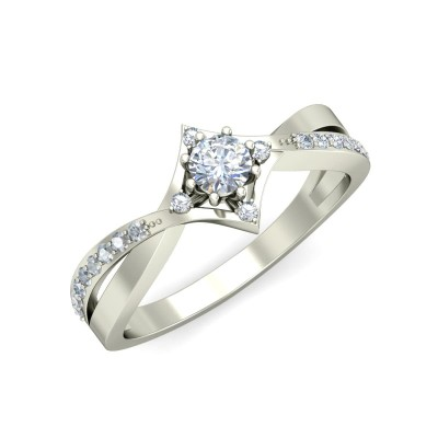 SUMEDHA DIAMOND CASUAL RING in 18K Gold
