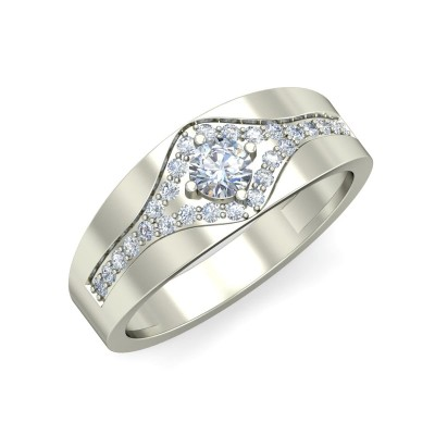 AVIGNA DIAMOND BANDS RING in 18K Gold