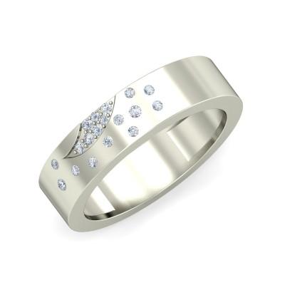 PRAPTI DIAMOND BANDS RING in 18K Gold