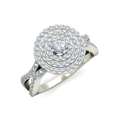 HARINI DIAMOND COCKTAIL RING in 18K Gold