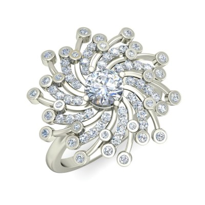 KAY DIAMOND COCKTAIL RING in 18K Gold