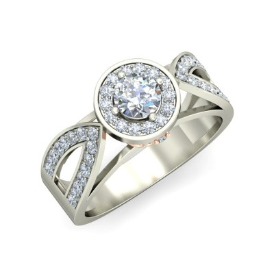 BREA DIAMOND BANDS RING in 18K Gold
