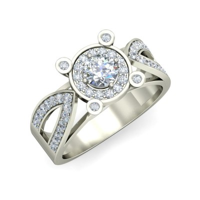 RAGA DIAMOND COCKTAIL RING in 18K Gold