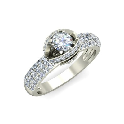 SLOAN DIAMOND BANDS RING in 18K Gold