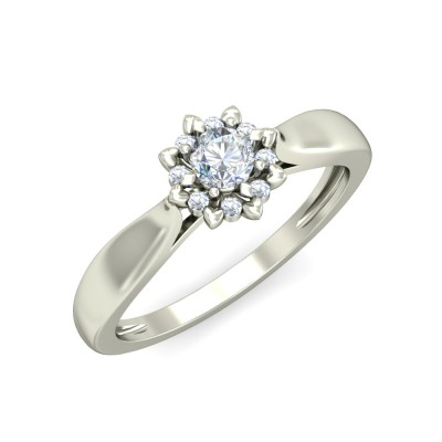 LOPA DIAMOND CASUAL RING in 18K Gold