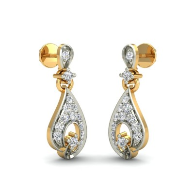 REINA DIAMOND DROPS EARRINGS in 18K Gold