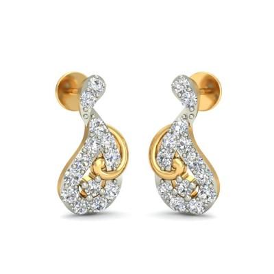 ACHLA DIAMOND STUDS EARRINGS in 18K Gold
